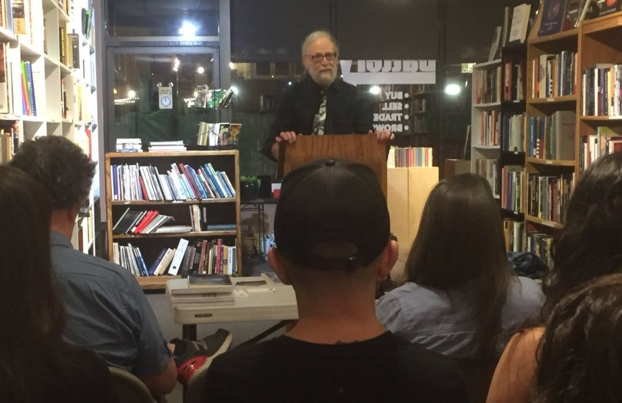 Rick reading at Noir Night; photo by S. W. Lauden.