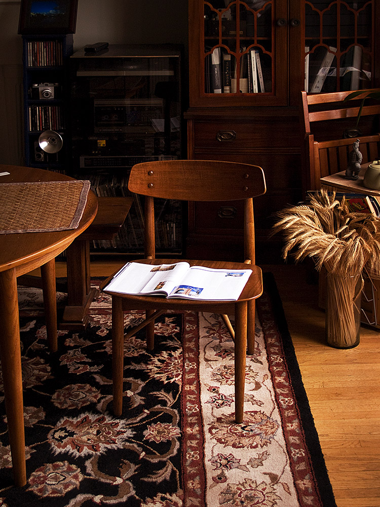 Chair, Magazine, Books